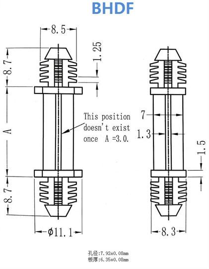 pc board isolation column  nylon isolation column