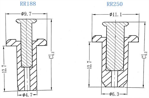 nylon rivets  rivets  rivet specifications